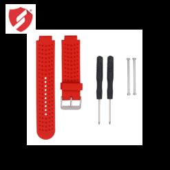 Curea rosie din silicon compatibila cu smartwatch Garmin Forerunner 230/235/630