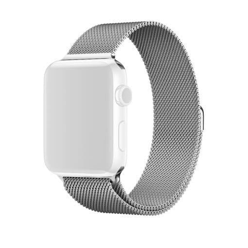 Curea metalica argintie pentru Apple Watch 38mm pentru Series 1 / 2 / 3 / 4 versiunea 40mm