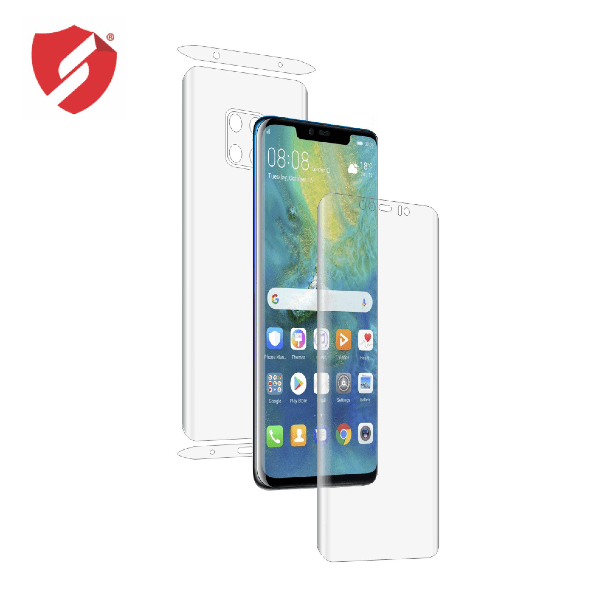 Folie de protectie Antireflex Mata Smart Protection Huawei Mate 20 Pro - fullbody - display + spate + laterale imagine