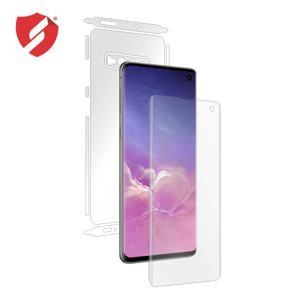 Folie de protectie Smart Protection Samsung Galaxy S10 compatibila cu carcasa Leather Case - fullbody - display + spate + laterale imagine