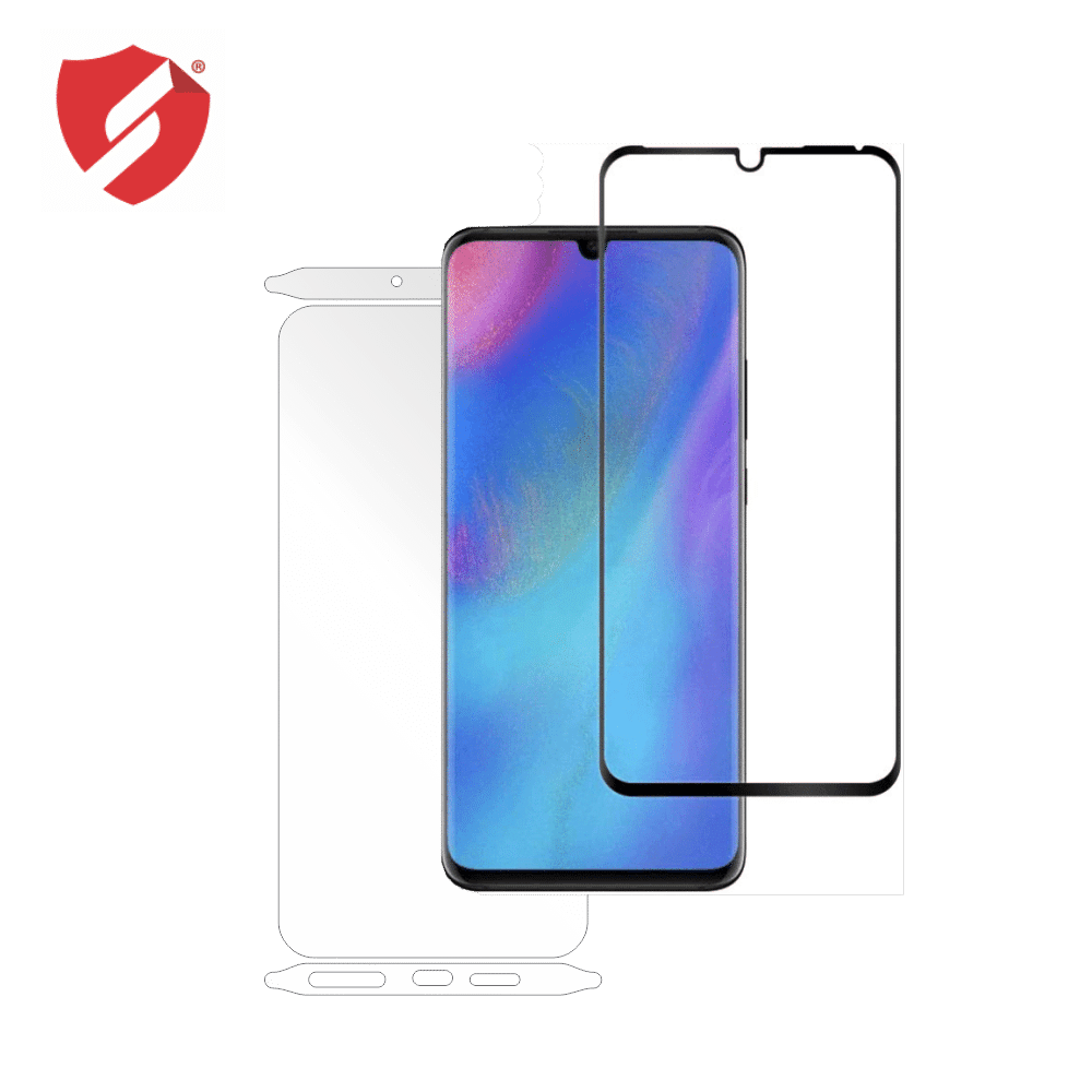 Tempered Glass - Ultra Smart Protection Huawei P30 Pro fulldisplay negru - Ultra Smart Protection Display + Clasic Smart Protection spate + laterale imagine