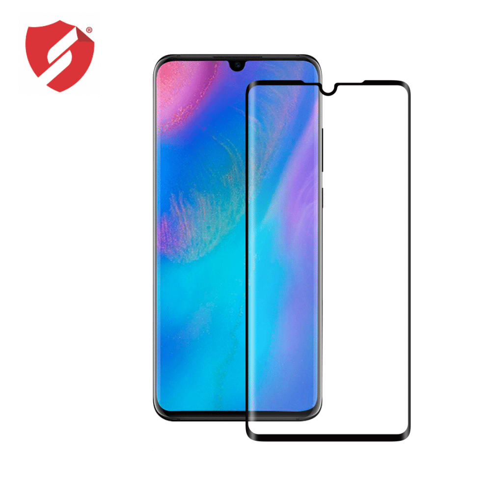 Tempered Glass - Ultra Smart Protection Huawei P30 fulldisplay negru - Ultra Smart Protection Display + Clasic Smart Protection spate + laterale imagine