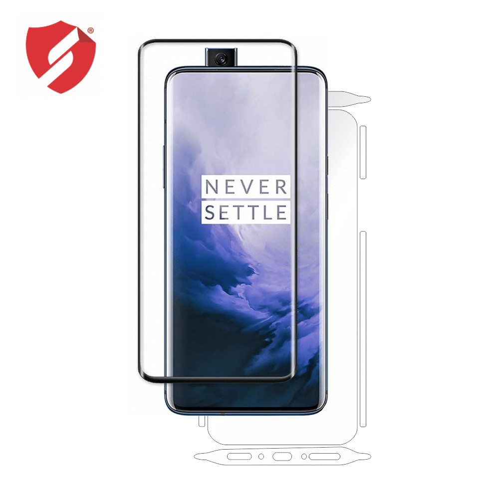 Tempered Glass - Ultra Smart Protection OnePlus 7 Pro fulldisplay 3D negru - Ultra Smart Protection Display + Clasic Smart Protection spate + laterale imagine