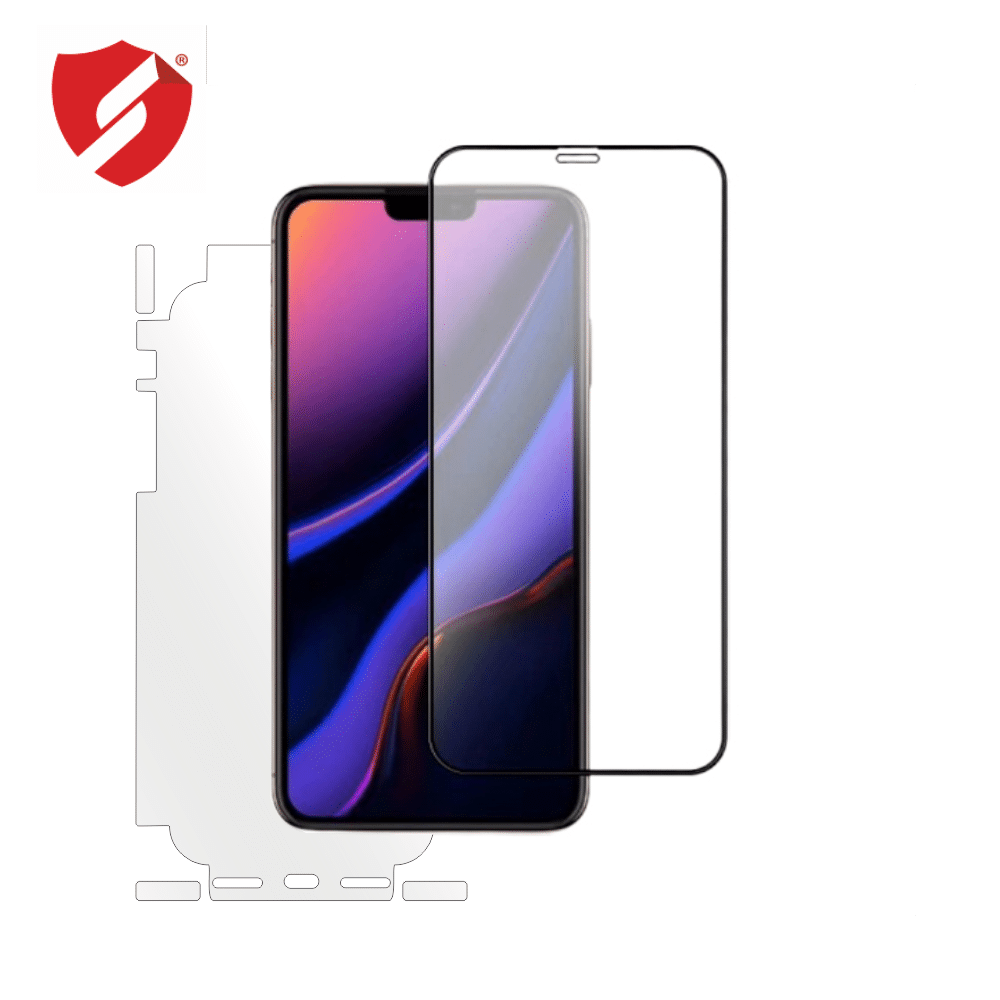 Tempered Glass - Ultra Smart Protection iPhone 11 fulldisplay 3D Negru - Ultra Smart Protection Display + Clasic Smart Protection spate + laterale imagine