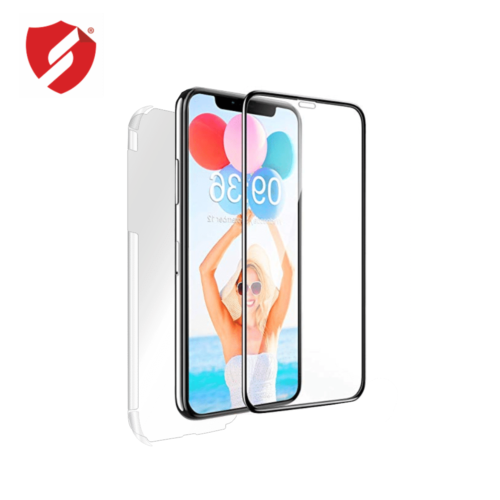 Tempered Glass - Ultra Smart Protection iPhone 11 Pro fulldisplay 3D Negru - Ultra Smart Protection Display + Clasic Smart Protection spate + laterale imagine