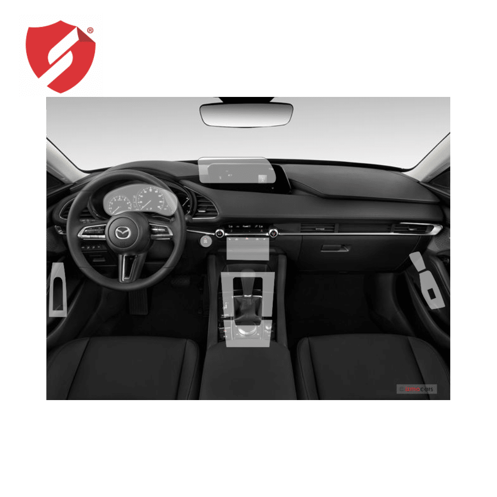 Folie de protectie Smart Protection Interior bord + Navi Mazda 3 model 2019 - fullbody - display + spate + laterale imagine