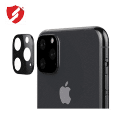 Protectie neagra Smart Protection pentru lentile camera iPhone 11 Pro si iPhone 11 Pro Max
