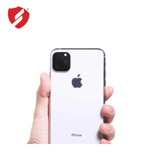 Protectie Smart Protection lentile camera iPhone X Xs cu a treia camera+blitz fake aparente in stil iPhone 11 Pro Pro Max 2