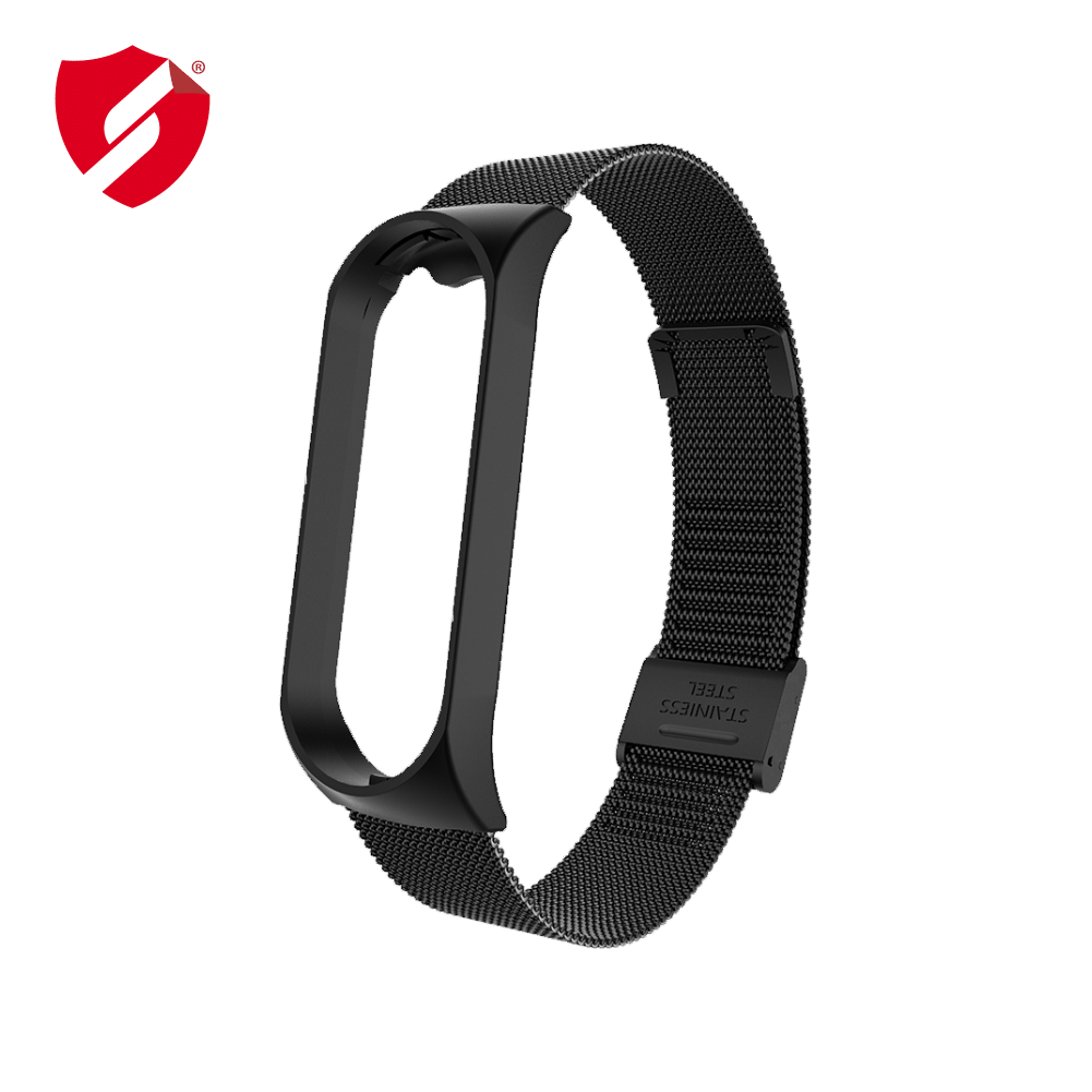 Curea Xiaomi Mi Band 4 metalica neagra cu catarama imagine