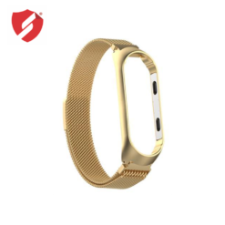 Curea Xiaomi Mi Band 4 metalica gold cu catarama