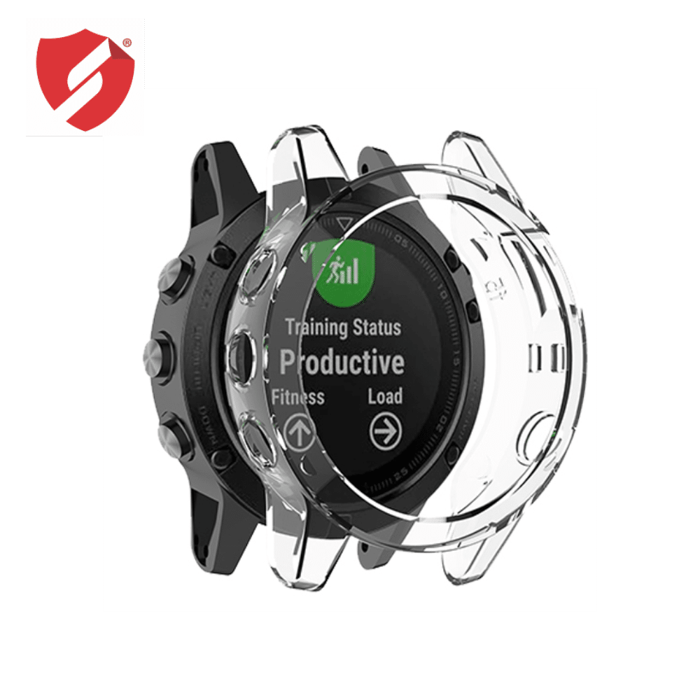 Carcasa protectie TPU rama Garmin Fenix 5x / 5x Plus transparenta imagine