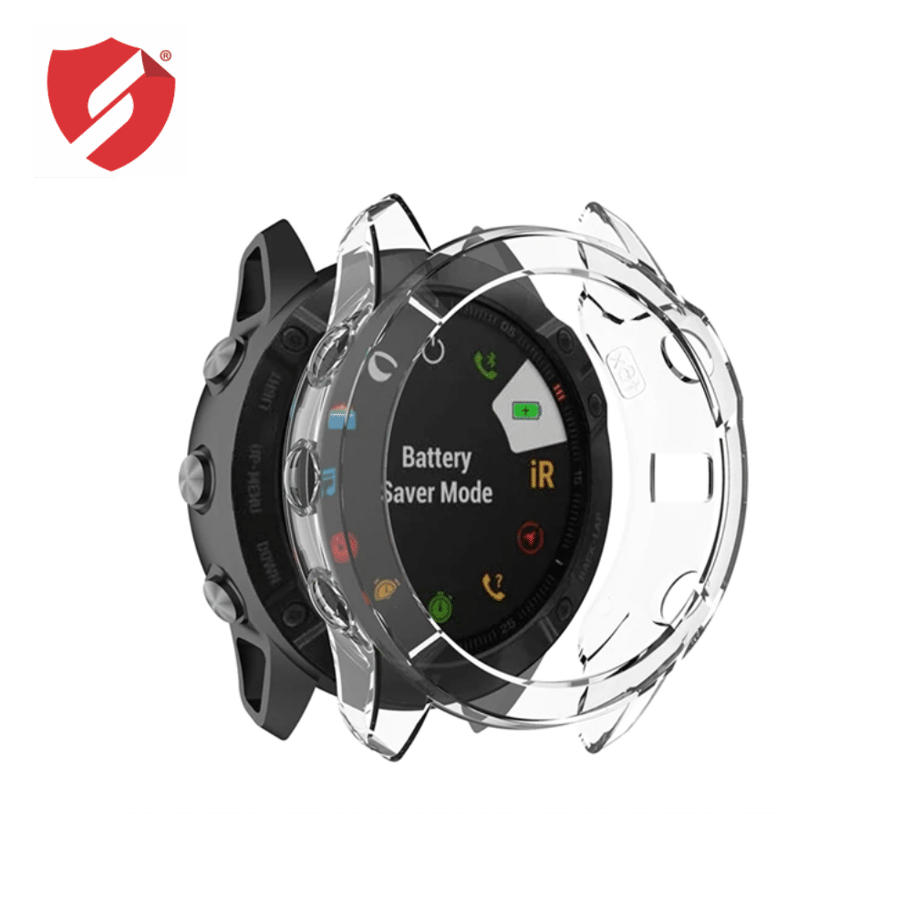Carcasa protectie TPU rama Garmin Fenix 6X transparent imagine