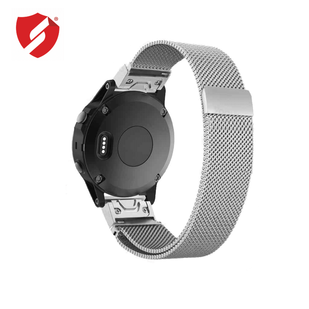 Curea 26mm Garmin Fenix 3/5x/5X Plus/6X/6X Pro Solar Milanese inox silver imagine