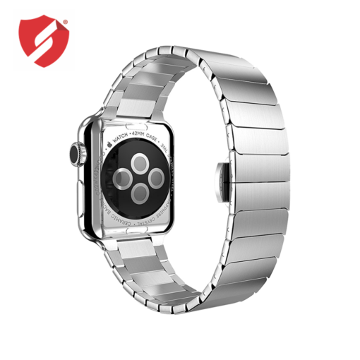 Curea Apple Watch 42/44 Series 1/2/3/4/5 cu zale metalice tip Link Bracelet, inox silver prindere Fluture