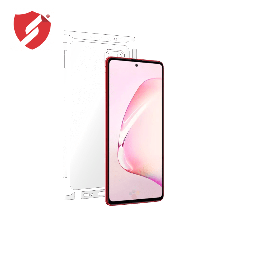 Folie Antireflex Mata Smart Protection Samsung Galaxy Note 10 Lite - doar-spate+laterale imagine