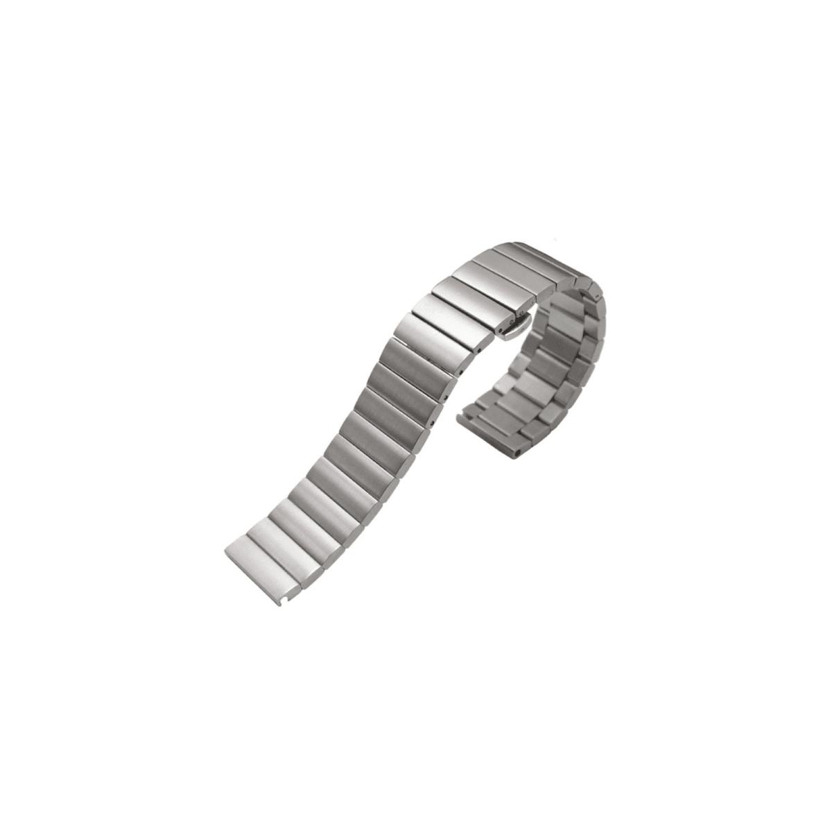 Curea 22mm Huawei GT2 46mm/Gear S3/Huawei W2 Clasic tip Link metalica argintie imagine