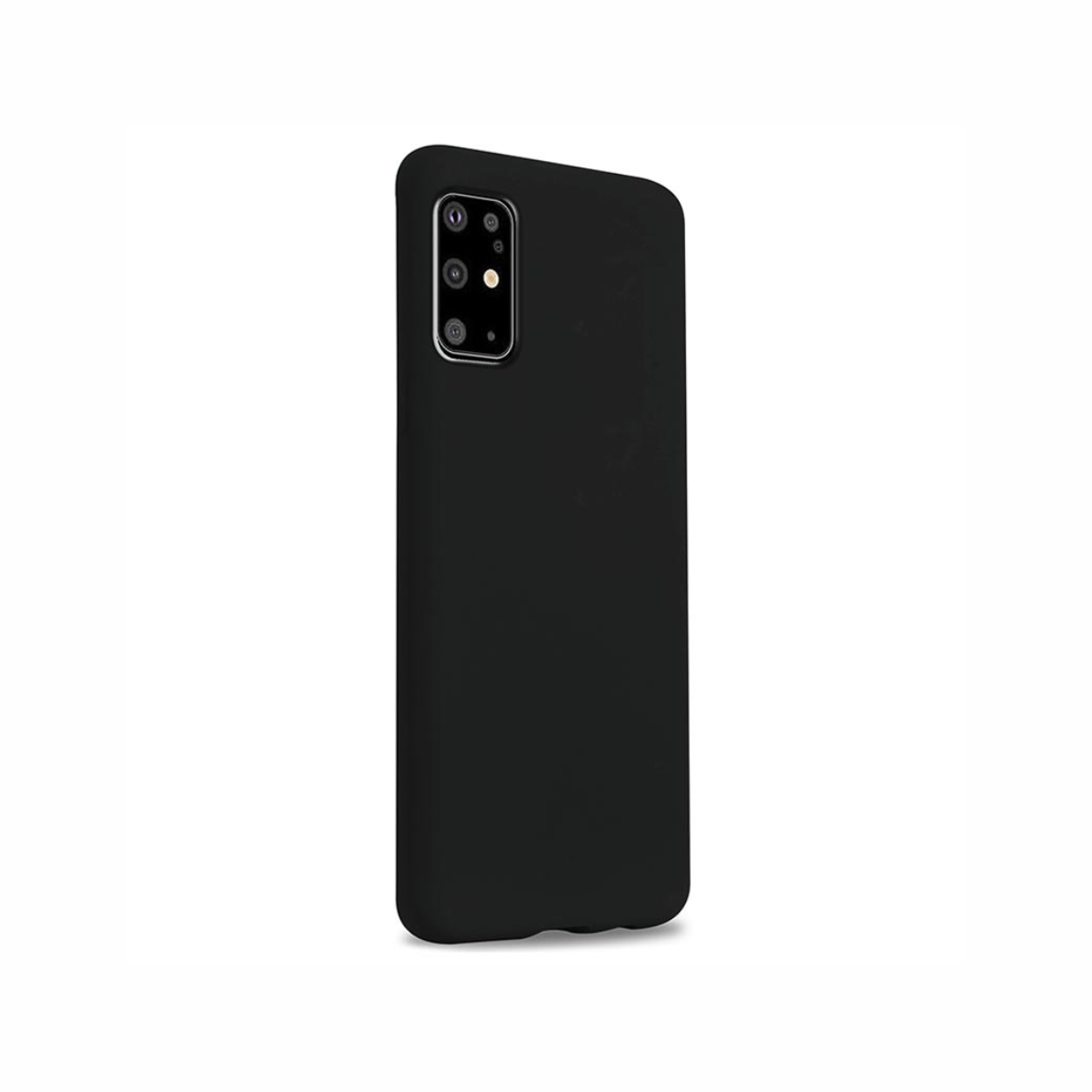 Carcasa neagra tip Silicone Cover pentru Samsung Galaxy S20 Plus/S20 Plus 5G imagine