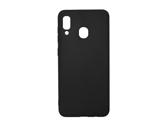 Carcasa neagra tip Silicone Cover pentru Samsung Galaxy A30 imagine