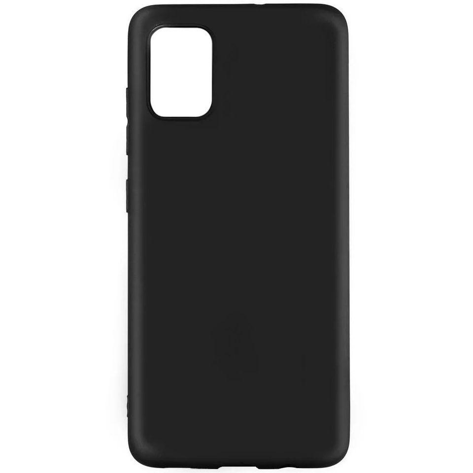 Carcasa neagra tip Silicone Cover pentru Samsung Galaxy A71 imagine