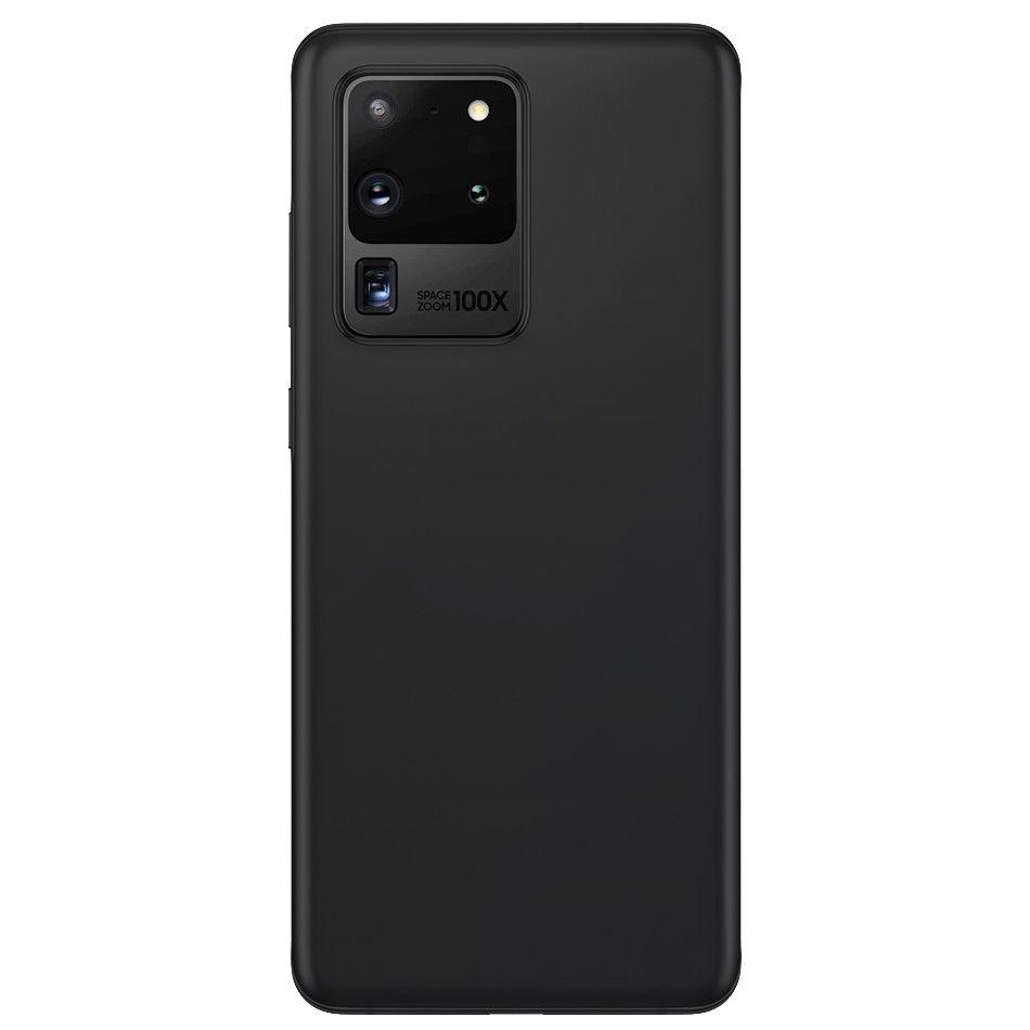 Carcasa neagra tip Silicone Cover pentru Samsung Galaxy S20 Ultra/S20 Ultra 5G imagine