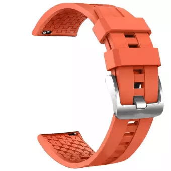 Curea 22mm Huawei GT2 46mm,Gear S3,Huawei W2 Clasic silicon orange imagine