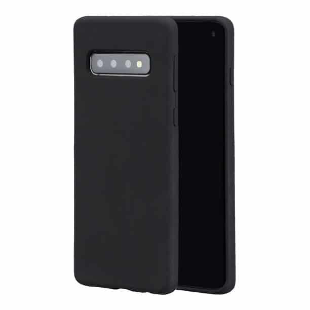 Carcasa neagra tip Silicone Cover pentru Samsung Galaxy S10 imagine