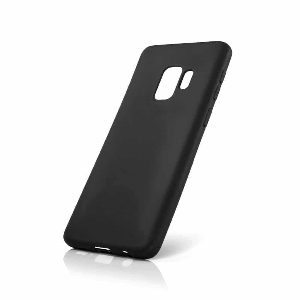 Carcasa neagra tip Silicone Cover pentru Samsung Galaxy S9 Plus imagine