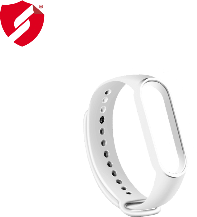 Curea Xiaomi Mi Band 5 silicon alb imagine